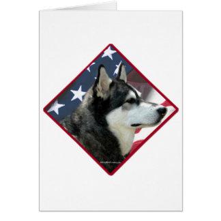 Alaskischer Malamute-Flagge 2 Karte