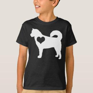 Alaskischer Malamute-Herz-Dunkelheit scherzt T - T-Shirt