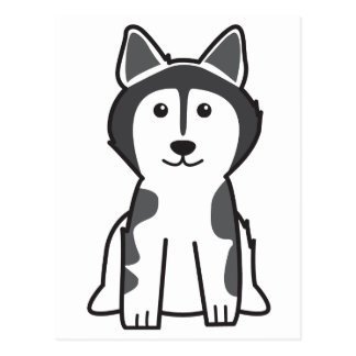Alaskischer Malamute-HundeCartoon Postkarte
