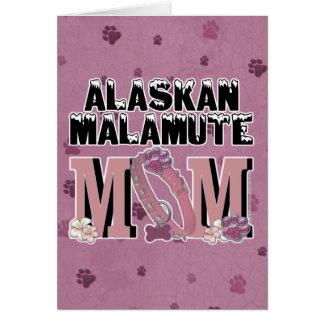 Alaskischer Malamute MAMMA Karte
