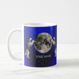 Alaskischer Malamute-Mond Kaffeetasse
