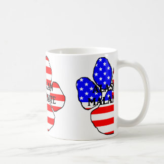 alaskischer Malamute Nameflagge Tatze Kaffeetasse