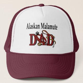 Alaskischer Malamute-Vati-Kleid Truckerkappe