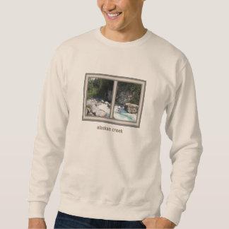Alaskischer Nebenfluss-großes Sweatshirt