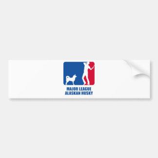 Alaskischer Schlittenhund Autoaufkleber