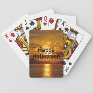 Alaskischer Sonnenuntergang-Spielkarten Spielkarten