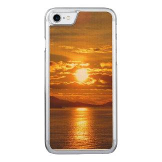 Alaskischer Sonnenuntergang-Telefon-Kasten Carved iPhone 8/7 Hülle