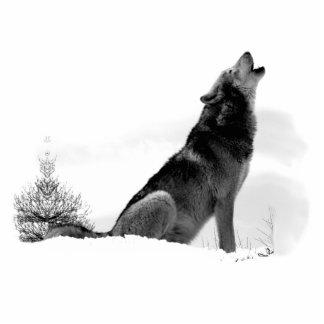 Alaskischer Timberwolf Freistehende Fotoskulptur