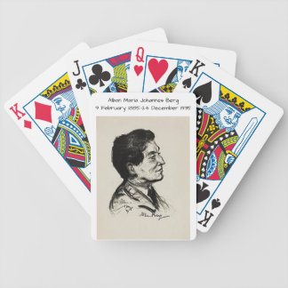 Alban Maria Johannes Berg Bicycle Spielkarten