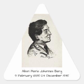 Alban Maria Johannes Berg Dreieckiger Aufkleber