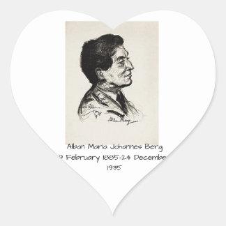 Alban Maria Johannes Berg Herz-Aufkleber