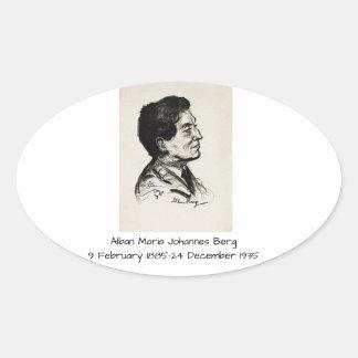 Alban Maria Johannes Berg Ovaler Aufkleber