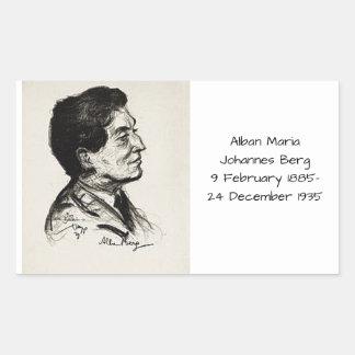 Alban Maria Johannes Berg Rechteckiger Aufkleber