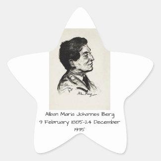 Alban Maria Johannes Berg Stern-Aufkleber