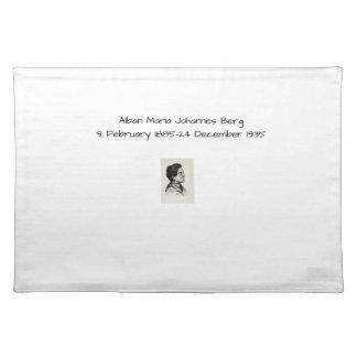 Alban Maria Johannes Berg Stofftischset