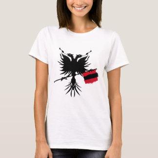 Albaner Eagle mit Flagge - Damen-Spaghetti-Spitze T-Shirt