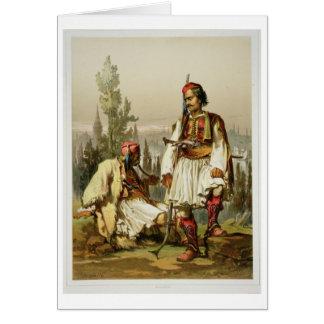 Albaner, Söldner in der Osmanearmee, Kneipe. b Karte