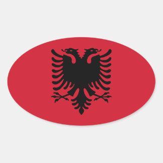 Albanien/Albani/albanische Flagge Ovaler Aufkleber