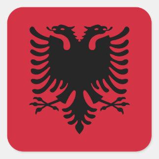 Albanien/Albani/albanische Flagge Quadrat-Aufkleber