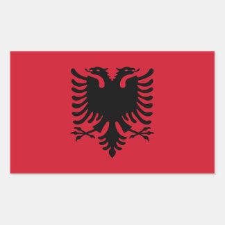 Albanien/Albani/albanische Flagge Rechteckiger Aufkleber
