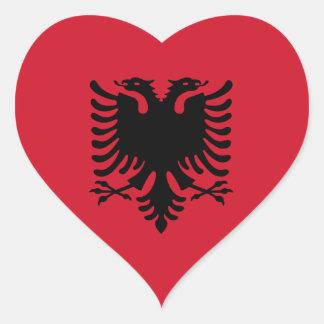 Albanien/Albani/albanische Herz-Flagge Herz-Aufkleber