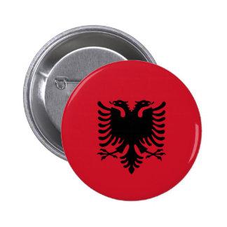 Albanien - albanische Flagge Runder Button 5,7 Cm
