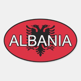 Albanien-Euro-Aufkleber Ovaler Aufkleber