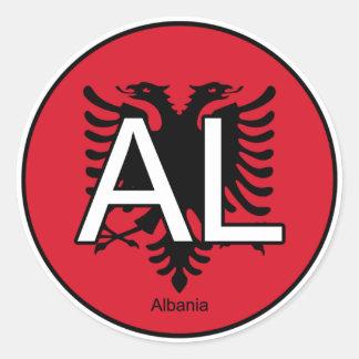 Albanien-Euro-Aufkleber Runder Aufkleber
