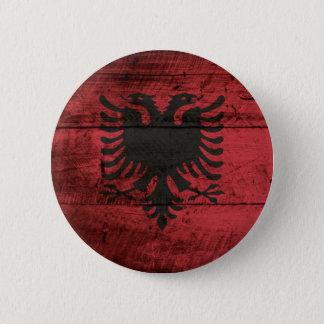 Albanien-Flagge auf altem hölzernem Korn Runder Button 5,7 Cm