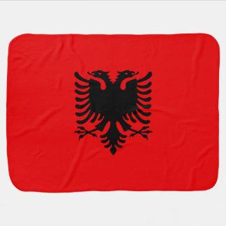 Albanien-Flagge Baby-Decke