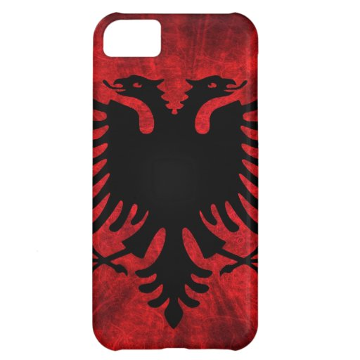 Albanien-Flagge iPhone 5C Cover