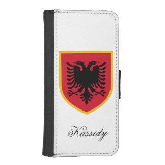 Albanien-Flagge I Phone 5 Portmonee