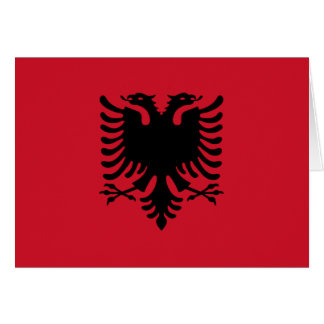 Albanien-Flagge Mitteilungskarte