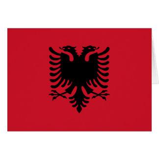 Albanien-Flagge Grußkarten