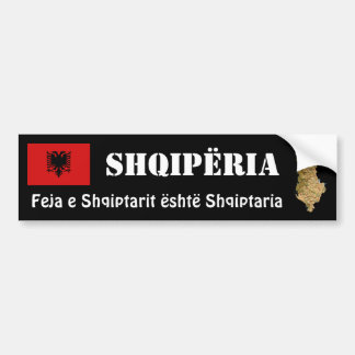 Albanien-Flagge + Karten-Autoaufkleber Autoaufkleber