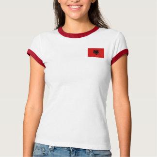 Albanien-Flagge + Karten-T - Shirt