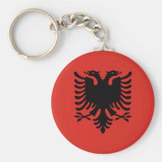 Albanien-Flagge Keychain Standard Runder Schlüsselanhänger