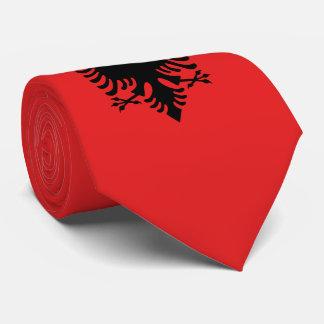 Albanien-Flagge Krawatte