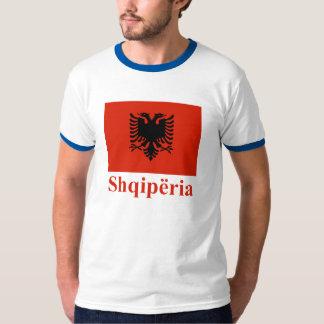 Albanien-Flagge mit Namen auf Albaner T-Shirt