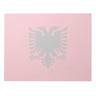 Albanien-Flagge Notizblock