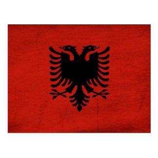 Albanien-Flagge Postkarte