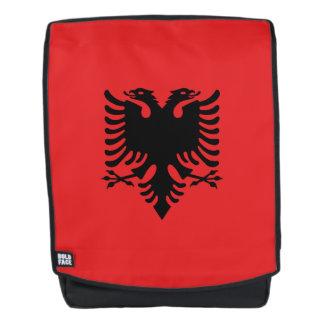 Albanien-Flagge Rucksack