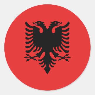 Albanien-Flagge Runder Aufkleber