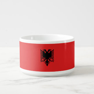 Albanien-Flagge Schüssel