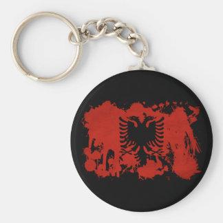 Albanien-Flagge Standard Runder Schlüsselanhänger