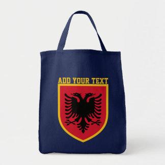 Albanien-Flagge Tragetasche