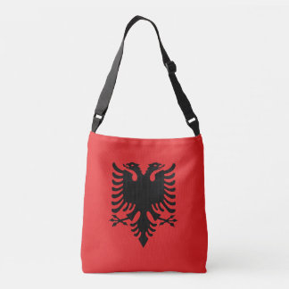 Albanien-Flagge Tragetaschen Mit Langen Trägern