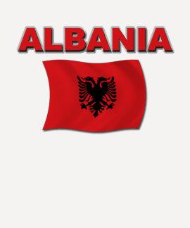 Albanien-Flagge Tshirts