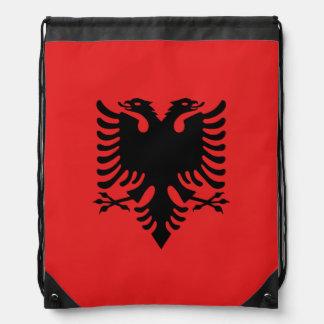 Albanien-Flagge Turnbeutel