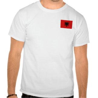 Albanien-Flagge und Karten-T - Shirt